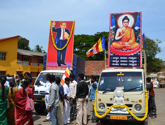 Udupi: Dalits embrace Buddhism as part of 2600th birth anniversary of Lord Buddha
