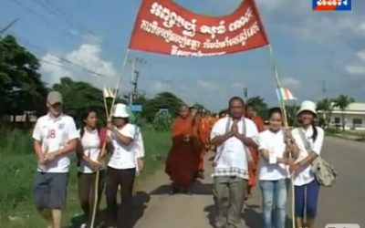 Dhammayietra for Friendship and Harmony between Cambodian and Thai