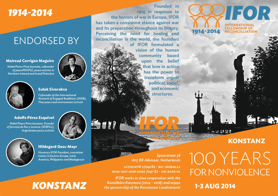 2014 IFOR International Council Invitation (ENG & FR)‏