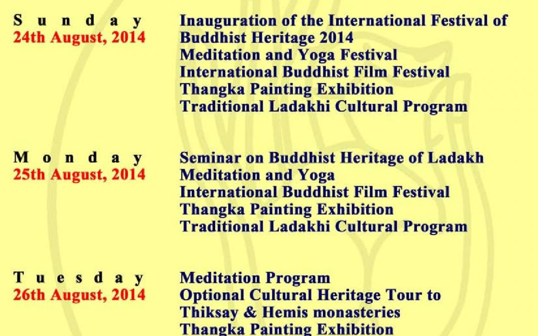 International Festival of Buddhist Heritage of Ladakh 2014