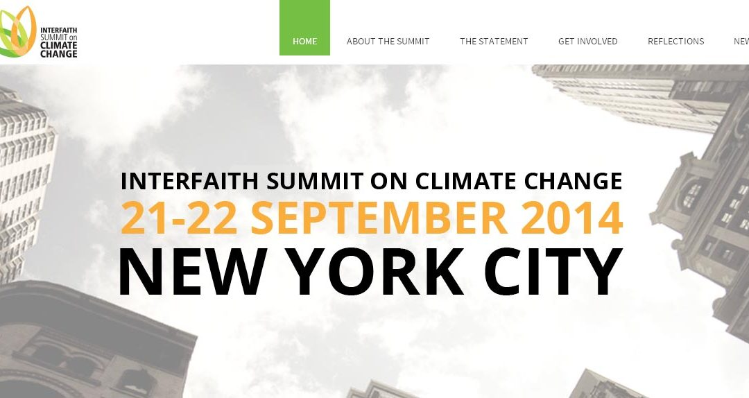 interfaith summit on climate change 2014