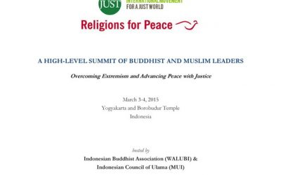 A High-level Buddhist-Muslim Summit in Yogyakarta and Borobudur, Indonesia on March 3-4, 2015‏