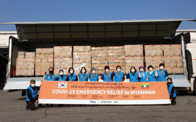 Medical Materials Donated by JTS Korea for Myanmar's Front Line Health Care Workers during COVID-19